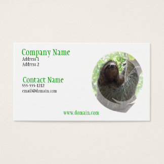 Sloth Photo Design Business Card