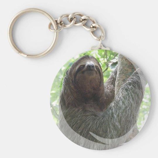 Sloth Photo Design Keychain