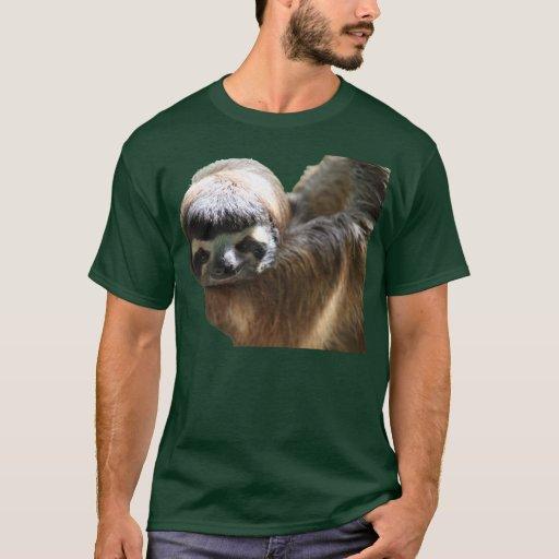 Sloth Photo on Dark Shirt