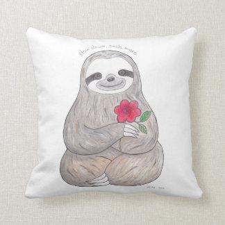 Sloth Pillow Slow Life Sloth Throw Pillow Cushion