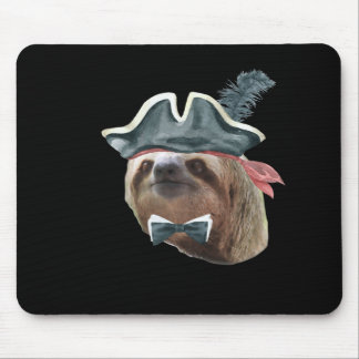 Sloth Pirate Hat black bow tie Sloths In Clothes Mouse Pad