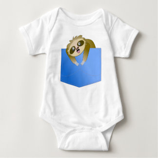 Sloth Pocket Pal Baby Outfit Baby Bodysuit