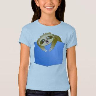Sloth Pocket Pal Girl's Shirt