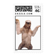 sloth postage stamps