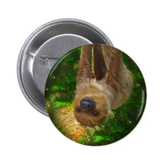 Sloth Rainforest Gifts Button