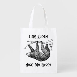 Sloth Reusable Grocery Bag