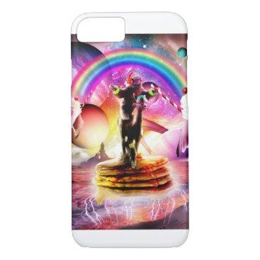 Sloth Riding Alpaca With Pancakes And Milkshake iPhone 8/7 Case