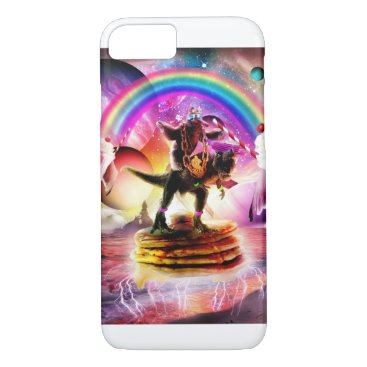 Sloth Riding Dinosaur With Pancakes And Milkshake iPhone 8/7 Case