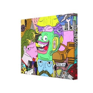 Sloth Rocket. Canvas Print