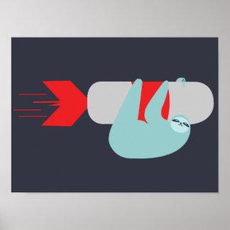 Sloth Rocket Poster