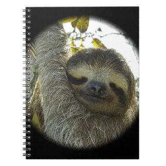 Sloth round mask notebook