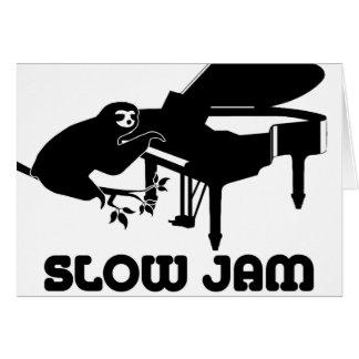 Sloth Slow Jam Card