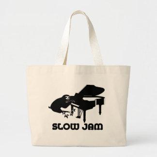 Sloth Slow Jam Large Tote Bag