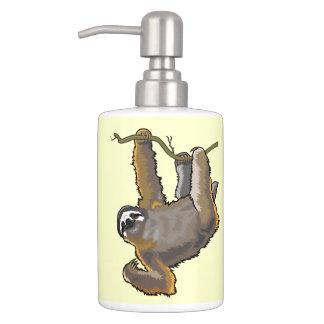 sloth soap dispenser & toothbrush holder