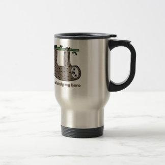 Sloth the Hero 15 Oz Stainless Steel Travel Mug