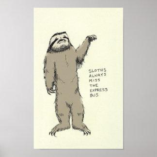 sloth trivia print