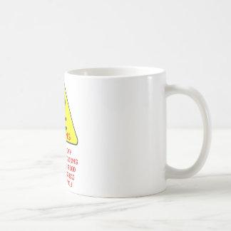 sloth warning classic white coffee mug