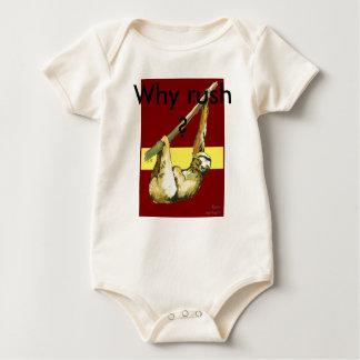 Sloth -Why Rush? Baby Bodysuit