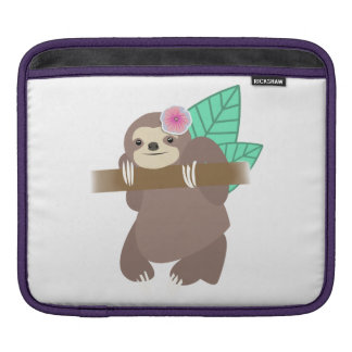 Sloth With Flower Digital Illustration Sleeve For iPads
