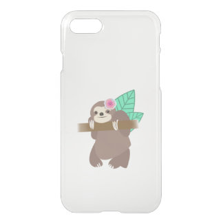 Sloth With Flower Illustration iPhone 8/7 Case