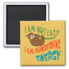 Sloth with saying magnet
