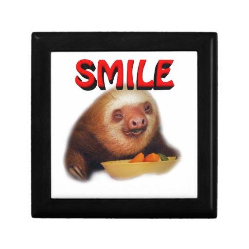 slothie sonriente joyero cuadrado pequeño