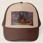 """Sloths in Space Trucker Trucker Hat<br><div class=""""desc"""">Travel time and space with this little guy.</div>"""