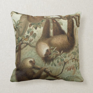 Sloths In Trees Throw Pillow