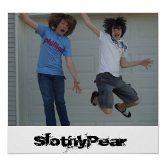 Slothy Pear  Poster