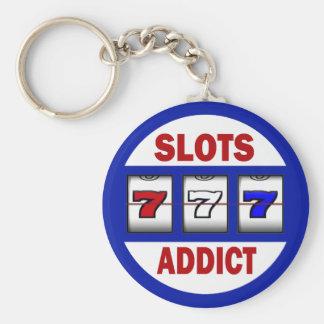 Slots Addict Basic Round Button Keychain