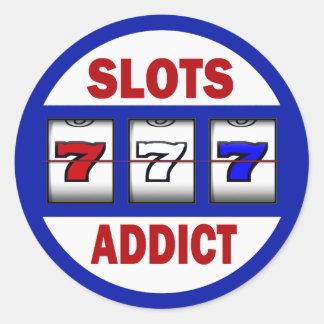 Slots Addict Classic Round Sticker