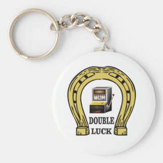 slots double luck yeah keychain