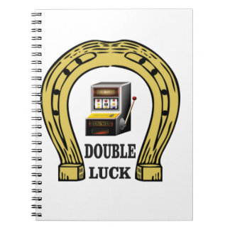 slots double luck yeah spiral notebook