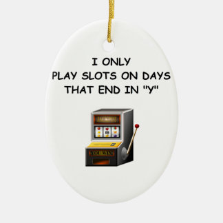 slots Double-Sided oval ceramic christmas ornament