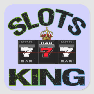 Slots King Square Sticker