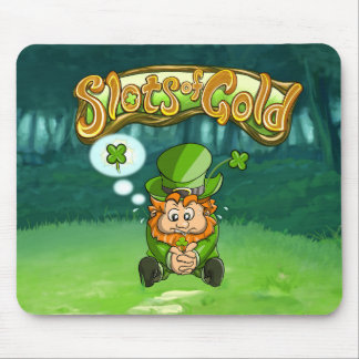 Slots of Gold Four Leaf Clover Mousepad