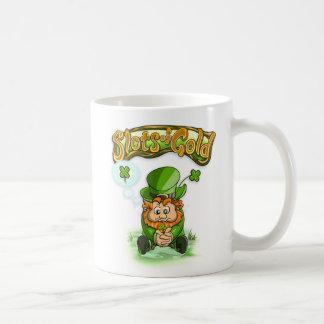 Slots of Gold Four Leaf Clover Mug
