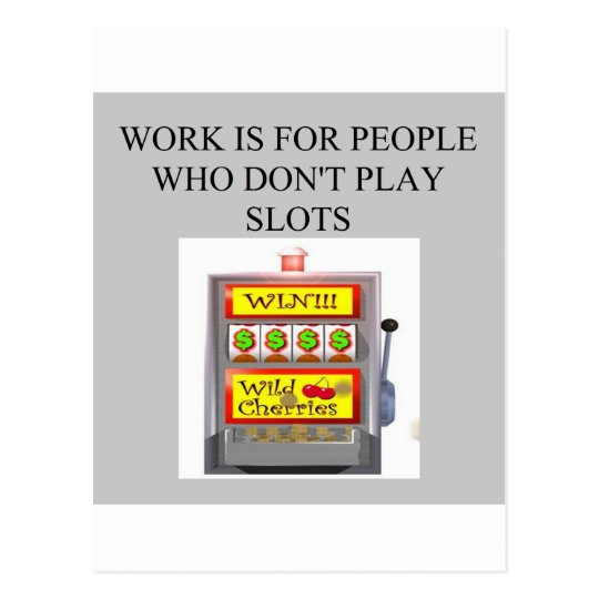 slots player casino gambler postcard