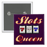 Slots Queen 2 Inch Square Button