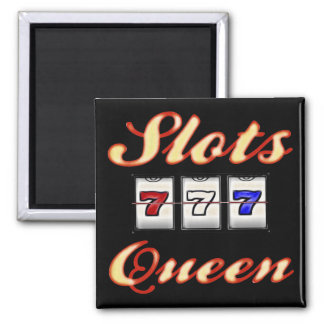 Slots Queen 2 Inch Square Magnet
