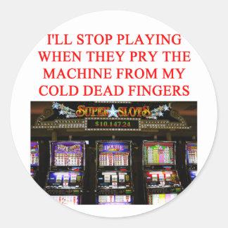 SLOTS slot machine Classic Round Sticker
