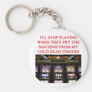 SLOTS slot machine Keychain