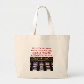 SLOTS slot machine Large Tote Bag