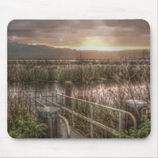 Slough and Mountains at Sunrise Mousepad