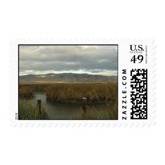 Slough and Mountains Postage Stamps