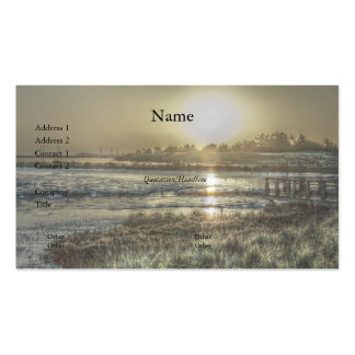 Slough at Dawn Business Card Business Cards