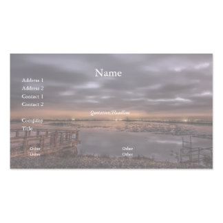 Slough before Dawn Business Card Business Cards