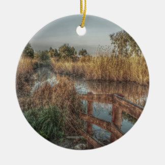 Slough in the Morning Double-Sided Ceramic Round Christmas Ornament