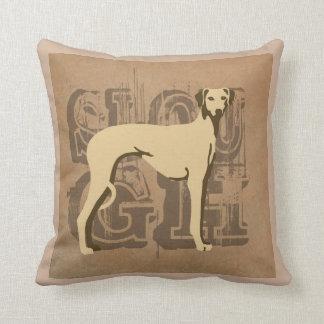 Sloughi Vintage chameau Cojín Decorativo