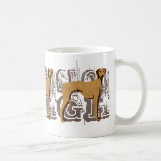 Sloughi Vintage Classic White Coffee Mug